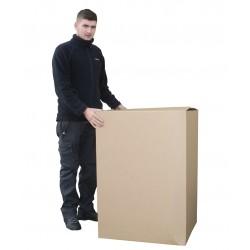 "SW272338 - (692mm x 592mm x 979mm) 27"" x 23"" x 38"" Single Wall Corrugated Cartons - FEFCO Style 0201 DPD Maximum Size Box"