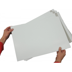 "100 x C3 / A3 WHITE Board Backed Envelopes 457mm x 324mm (18"" x 12.75"" appx) (2 Boxes)"