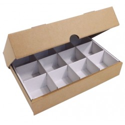 "600 x DC1182-A4-COMP - (297mm x 210mm x 57mm) 11.7"" x 8"" x 2"" Die Cut Corrugated Cartons - FEFCO Style 0427 (A4 Ream Box With Compartment)"