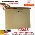 C3 / A3 ParcelMax Mailers - Maximum Royal Mail  Small Parcel Qualifying Corrugated Mailer (349mm x 445mm x 17mm)