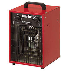 2 x Clarke Devil 6005 - Industrial 5KW Electric Fan Heater (3 Phase) 5 Pin