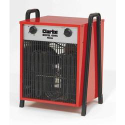 1 x Clarke Devil 6015 - Industrial 15KW Electric Fan Heater (3 Phase) 5 Pin