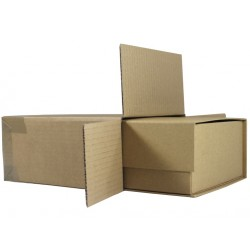 "FOL738 - (185mm x 98mm x 226mm) 7"" x 3"" x 8"" Fully Overlapping Corrugated Cartons - FEFCO Style 0203 (MEDIUM ECO KRAFT GIFT BOX OUTER CARTON)"