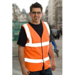 1 x Orange High Visibility Vests / Waistcoats