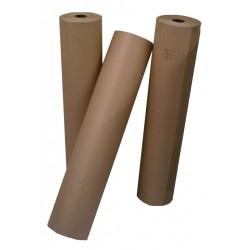 1 x Roll 225 Metres Long (1200mm Wide) 88gsm Brown Pure Kraft (Ribbed) Wrapping Paper