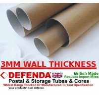 "4"" (101.6mm) Wide Diameter Cardboard Postal Tubes"