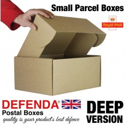 "Royal Mail Extra Deep Small Parcel Boxes (DEEP) -  (322mm x 243mm x 153mm) 12.67"" x 9.56"" x 6.02"" (appx) RM-DEEP-SPB"