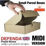 """Royal Mail Small Parcel Boxes (MIDI) - (344mm x 216mm x 76mm) 13.5"""" x 8.5"""" x 3"""" (appx) - RM-MIDI-SPB"""