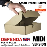 "Royal Mail Small Parcel Boxes (MIDI) - (344mm x 216mm x 76mm) 13.5"" x 8.5"" x 3"" (appx) - RM-MIDI-SPB"