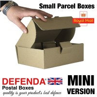"Royal Mail Small Parcel Boxes (MINI) - (219mm x 166mm x 76mm) 8.6"" x 6.5"" x 3"" (appx) - RM-MINI-SPB"