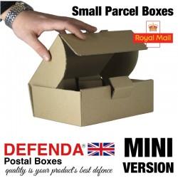 """Royal Mail Small Parcel Boxes (MINI) - (219mm x 166mm x 76mm) 8.6"""" x 6.5"""" x 3"""" (appx) - RM-MINI-SPB"""