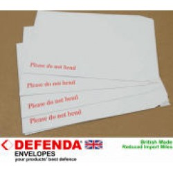 """10 x C4 / A4 WHITE Board Backed Envelopes 324mm x 229mm (12.75"""" x 9"""" appx)"""