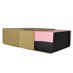"FOL1294 - (314mm x 233mm x 112mm) 12"" x 9"" x 4"" (Appx) Fully Overlapping Corrugated Cartons - FEFCO Style 0203 (WAVE GIFT BOX OUTER)"