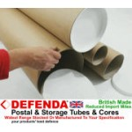 "1 x 59"" (1500mm) Long x 8"" (203.2mm) Diameter Cardboard Postal Tube (3mm Wall)"