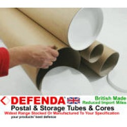"2 x 98.4"" (2500mm) Long x 10"" (254mm) Diameter Cardboard Postal Tubes (3mm Wall)"