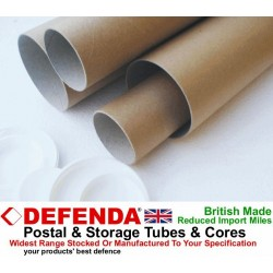 "18"" (457mm) Long x 2.25"" (57mm) Diameter Cardboard Postal Tubes"