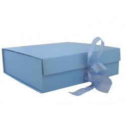 Keepsake Size Blue Magnetic Seal Gift Boxes - (300mm x 300mm x 90mm)