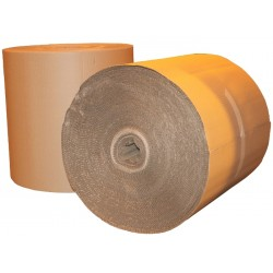 2 x 1200mm Wide 75 Metres Long Single Faced Corrugated Cardboard Roll