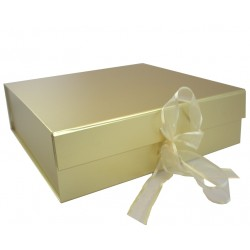 Keepsake Size Gold Magnetic Seal Gift Boxes - (300mm x 300mm x 90mm)