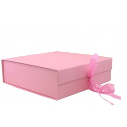 Keepsake Size Pink Magnetic Seal Gift Boxes - (300mm x 300mm x 90mm)
