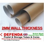 "30"" (762mm) Long 2"" (50.8mm) Diameter EXTRA STRONG Postal Tubes - 2mm Wall"