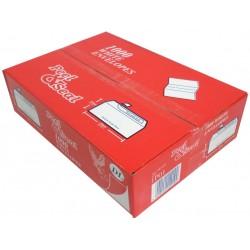 1000 x DL Plain White Peel & Seal Envelopes (1 Box)