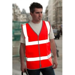 1 x Red High Visibility Vests / Waistcoats