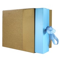 "FOL939 - (225mm x 75mm x 240mm) 9"" x 3"" x 9"" Fully Overlapping Corrugated Cartons - FEFCO Style 0203 (STANDARD GIFT BOX OUTER)"