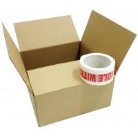 "250mm x 250mm x 134mm (10"" x 10"" x 5"") -  Shallow 10"" Square Cardboard Postal Boxes - SW105"