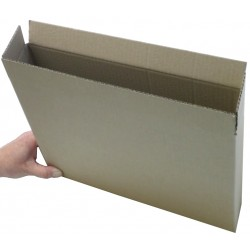 """SW14310 - (355mm x 76mm x 254mm) 14"""" x 3"""" x 10"""" Single Wall Corrugated Cartons - FEFCO Style 0201"""