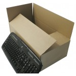 "SW19106 - (480mm x 260mm x 150mm) 19"" x 10"" x 6"" Single Wall Corrugated Cartons - FEFCO Style 0201"