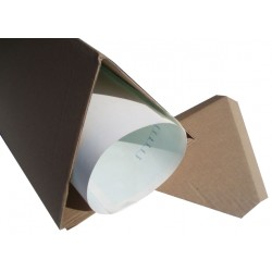 "50 x 16"" (A3 Size) (406mm) Long 5"" (127mm) Diameter Cardboard Triangular Postal Tubes"